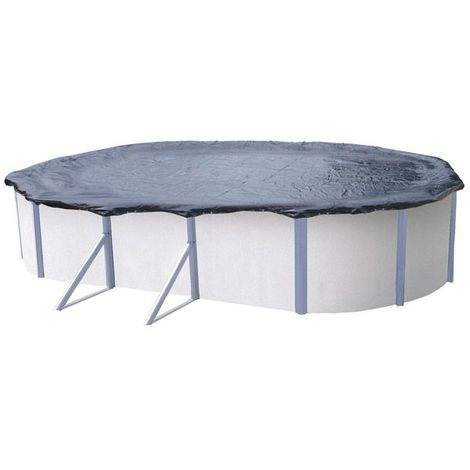 Bâche d'hiver pour piscine métal ou résine ovale 5 m x 3,9 m