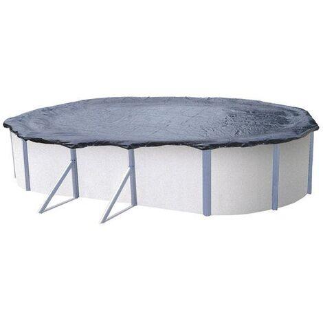 Bâche d'hiver pour piscine métal ou résine ovale 7,6 m x 3,9 m