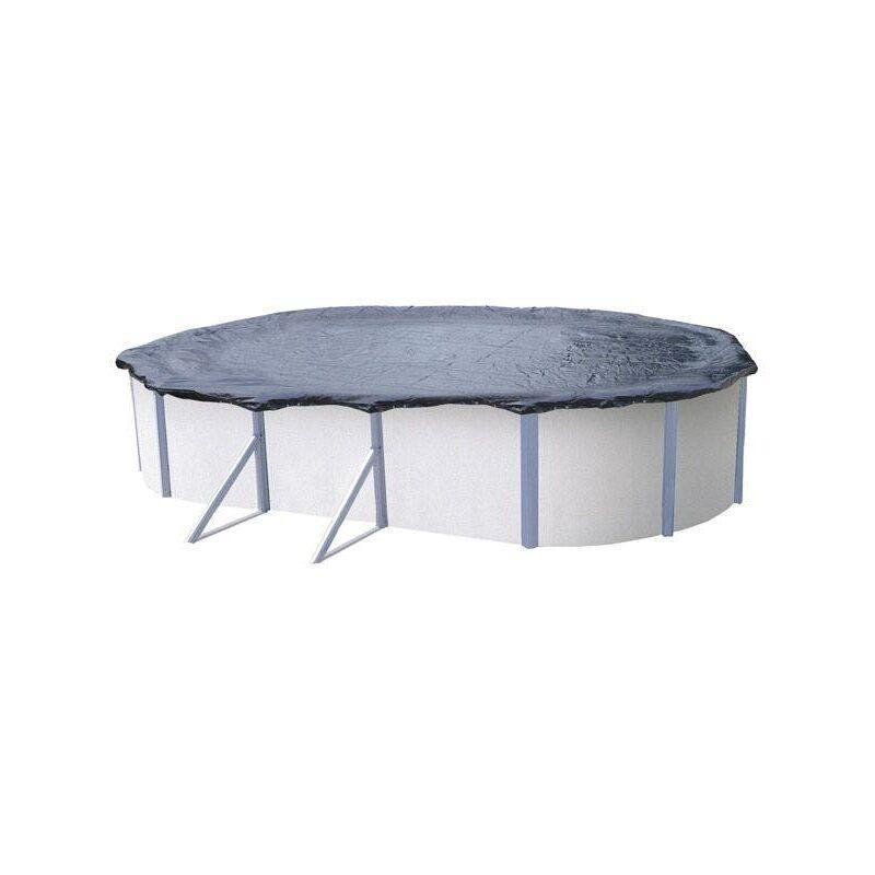 Trigano - Bâche d'hiver pour piscine métal ou résine ovale 8 m x 4,9 m