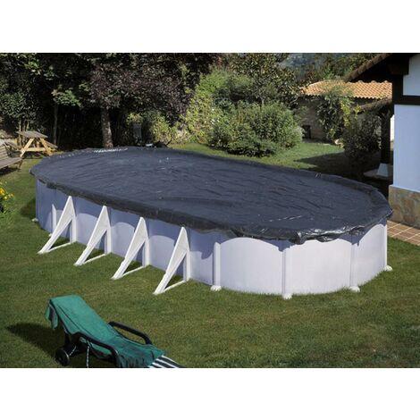 Bâche d'hivernage 180 g/m² pour piscine acier ovale 6,34 x 3,99 m / en huit 5,05 x 3,45 m - Gré