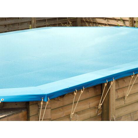 Bâche hiver pour piscine bois Linéa UrbanPool 4,50 x 2,50 m - Ubbink