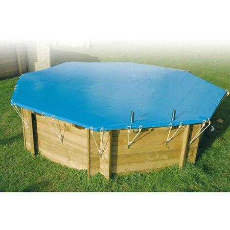 Bâche d'hivernage pour piscine bois Ubbink rectangulaire