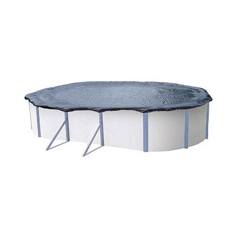 Bâche d'hivernage pour piscine hors sol de 6,1 x 3,7 à 6,5 x 3,8 m (90 gr/m²) - C0134