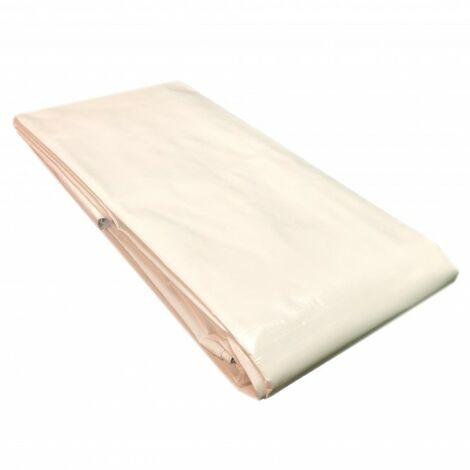 Bâche en tissu 260 g, 4 m x 6 m bâche de recouvrement, bâche de bateau, bâche universelle, bâche