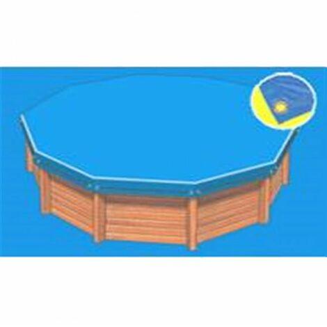 Bâche hiver Eco bleue compatible piscine Cristaline Evolux 5.30x3.70m