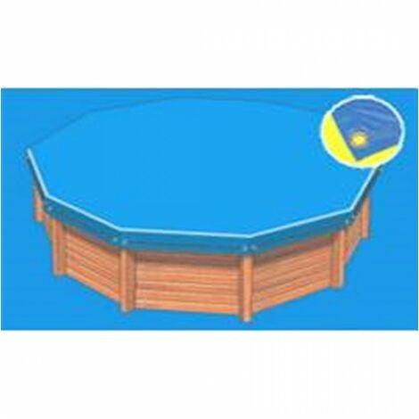 Bâche hiver Eco bleue compatible piscine Ubbink Ibiza 350x505