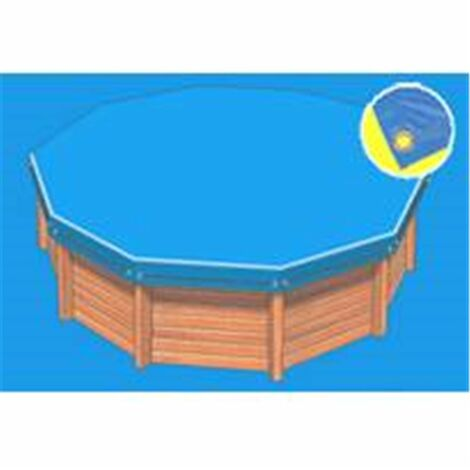 Bâche hiver Eco bleue compatible piscine Ubbink Ibiza 350x650