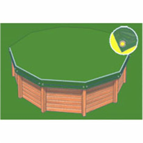 Bâche hiver Eco verte compatible piscine Cristaline Evolux 5.30x3.70m