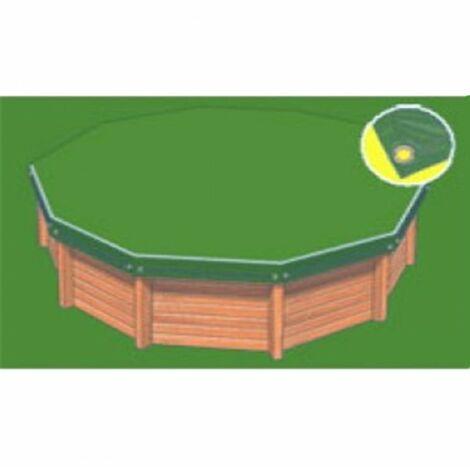 Bâche hiver Eco verte compatible piscine Cristaline Evolux 8.40x3.70m