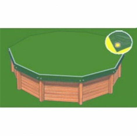 Bâche hiver Eco verte compatible piscine Ubbink Azura 410