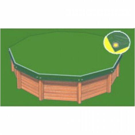Bâche hiver Eco verte compatible piscine Waterclip Flores