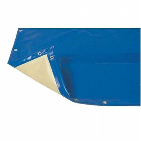 Bâche hiver Luxe bleue compatible piscine Ubbink Ibiza 350x505