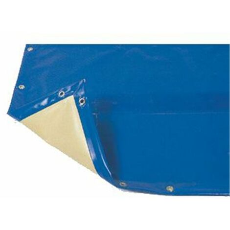 Bâche hiver Luxe bleue compatible piscine Ubbink Ibiza 350x650