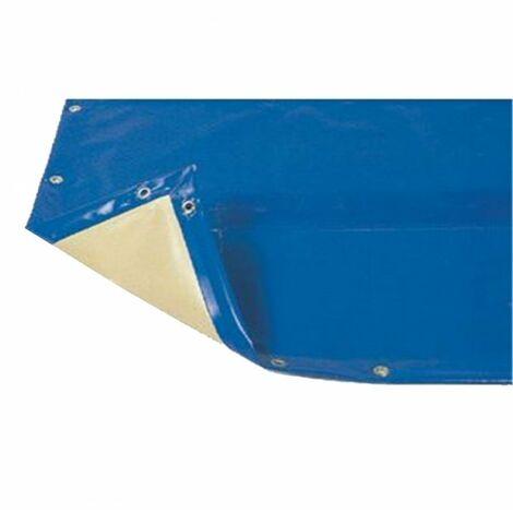 Bâche hiver Luxe bleue compatible piscine Ubbink Linéa 500x800