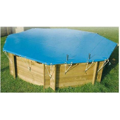 Bâche hiver piscine Ubbink/Nortland - Taille piscine: Rectangulaire 555 x 300 cm