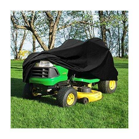 Bache housse pour tondeuse tracteur autoportée noir opaque impermeable 246 cm