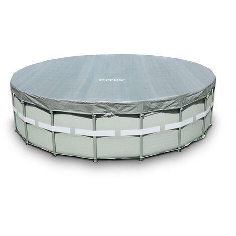 Bâche Intex 28041 couverture universelle grande piscines hors-sol rondes 549cm Deluxe