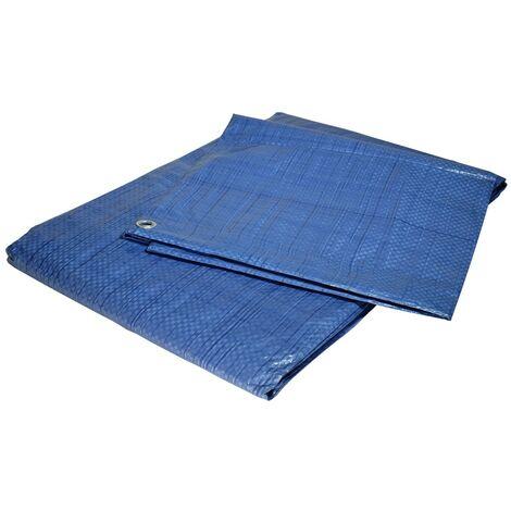 Bâche jardin 10x15 m 80g/m² - bâche bois - bâche de protection plastique bleue polyéthylène