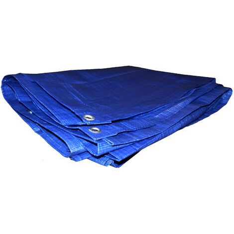 Bâche légère 60g/m² Bleu 5m x 6m - Bleu