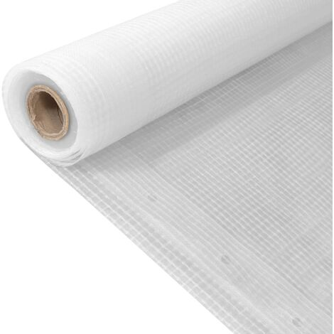 Bache Leno 260 g/m2 2 x 10 m Blanc