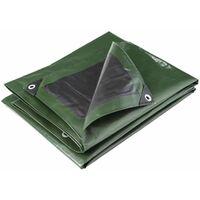 Bâche multifonctions noire et verte 240 g/m2 Werkapro 2 x 3 m