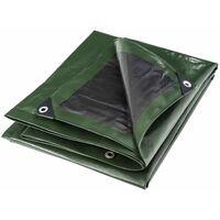 Bâche multifonctions noire et verte 240 g/m2 Werkapro 4 x 5 m