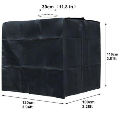 Bâche noire Anti-UV pour cuve 1000 litres