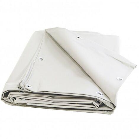Bâche Pergola 2 x 3 m Blanche 680 g/m2 PVC Haute qualité