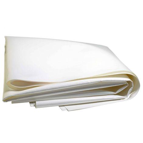 Bâche Pergola 2 x 3 m Blanche 680 g/m2 PVC Haute qualité - Blanche