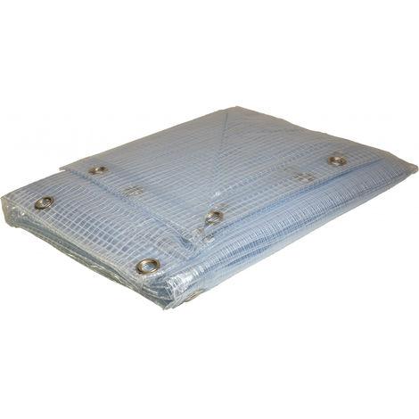 Bâche Pergola 2 x 3 m Transparente 400 g/m2 PVC Bâche amée renforcée