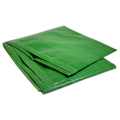 Bâche Pergola 4 x 10 m Verte 170 g/m2 PE haute densité Bâche amée renforcée - Verte