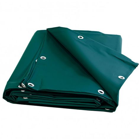 Bâche Pergola 6 x 4 m Verte 680 g/m2 PVC Haute qualité - Verte