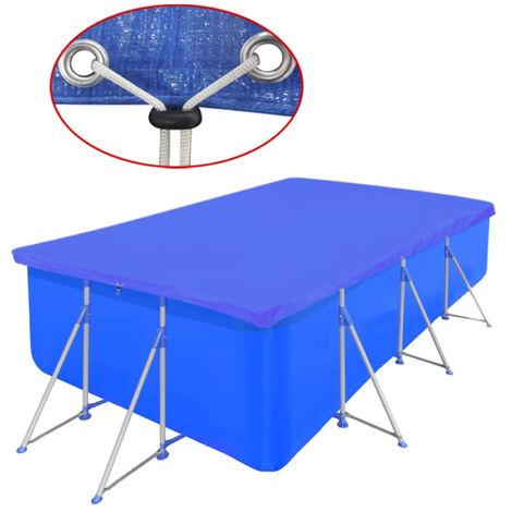Bâche Piscine en PE Rectangulaire 394 x 207 cm 90 g/mètre carré
