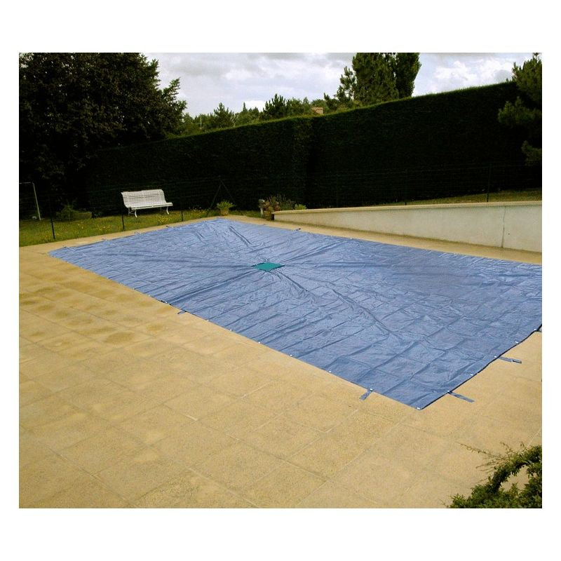 Bâche rectangulaire avec filet central pour piscine | Dimension: 8 x 14 m - DIRECT FILET