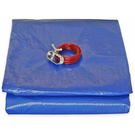 Bâche Piscine Ronde diam. 4,20m (avec filet d'écoulement) pour Piscine diamètre 3.60 m - couverture piscine - bache imperméable