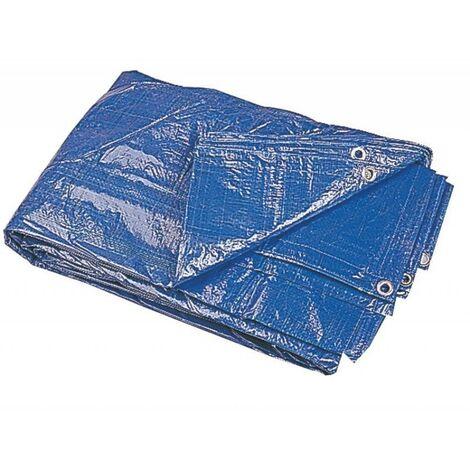 Bache Plastique 2X3M, 68G/M2, Couleur Bleu