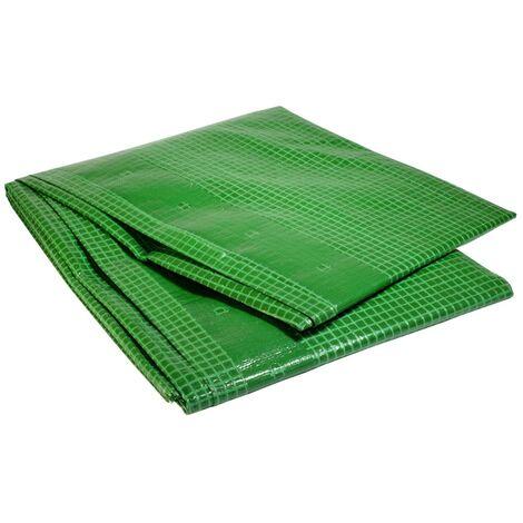 Bâche plastique 4 x 10 m armée verte 170g/m² - bâche armée renforcée 4x10 m en polyéthylène