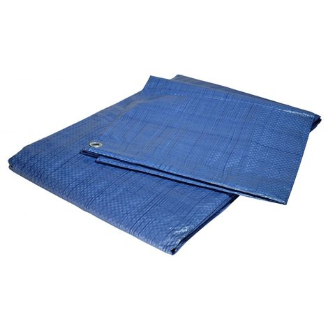 Bâche plastique 5x8 m bleue 80g/m² - bâche de protection polyéthylène