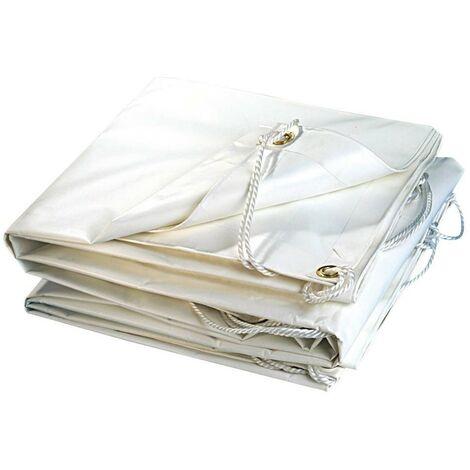 Bâche plastique PVC blanche 300g/m2 5 x 8 m