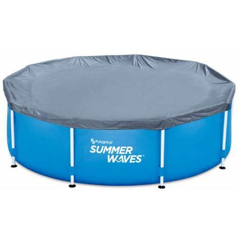 Bâche pour piscine ronde tubulaire Summer Waves Ø 3,05m