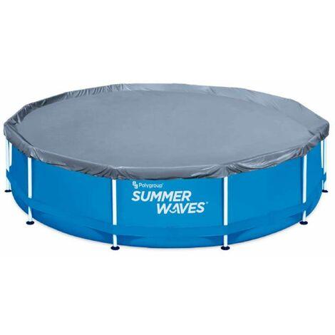 Bâche pour piscine ronde tubulaire Summer Waves Ø 3,66 m