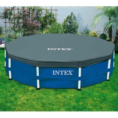 Bâche pour piscine tubulaire ronde 4,27 m Intex