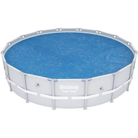 Bâche pour piscine tubulaire ronde - Diam. 462 cm - Bleu