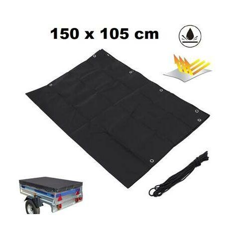 Bache pour remorque 1500 x 1050 mm polyester - 100% impermeable - ultra resistante