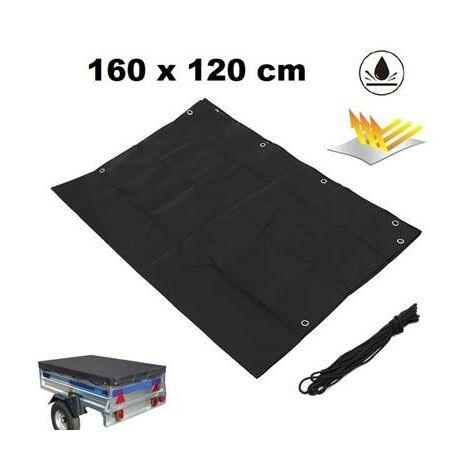 Bache pour remorque 1600 x 1200 mm polyester - 100% impermeable - ultra resistante