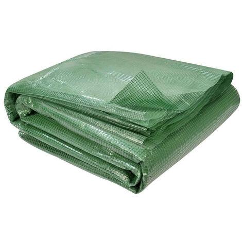 Bâche pour serre tunnel verte Vert 200 cm