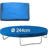 Bâche pour trampoline en PE - Housse de protection de 244cm bleu