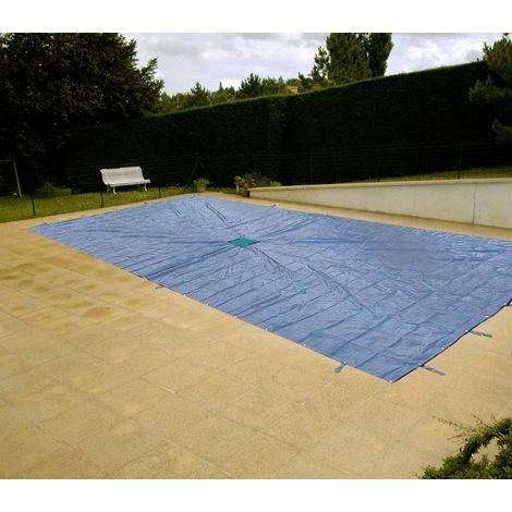 Bâche rectangulaire avec filet central pour piscine