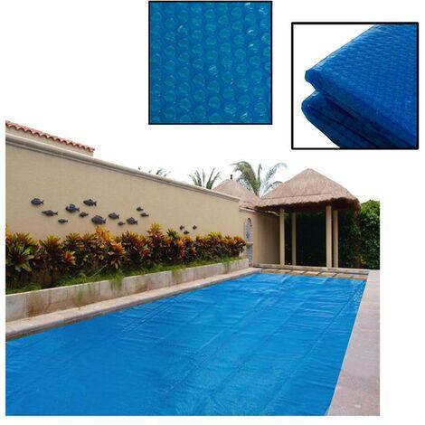 Bâche solaire pour piscine Bâche solaire bleu angulaire 2,74 x 5,49 m Couverture