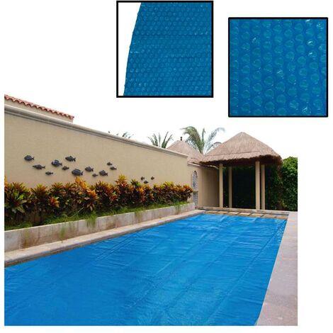Bâche solaire pour piscine Bâche solaire ronde bleue Ø3,81m Couverture de piscin